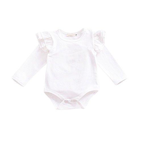 Brightup 2018 Baby Mädchen Frühling Sommer Outfits, Langarm-Spielanzug Zerzauste Body One-Piece Overall Kleinkind Kleidung Set