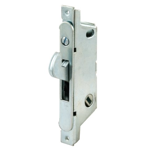 Prime-Line E 2121 Sliding Door Mortise Lock, 3-11/16 in., Round Face, Adams Rite, 45-degree Keyway, Pack of 1