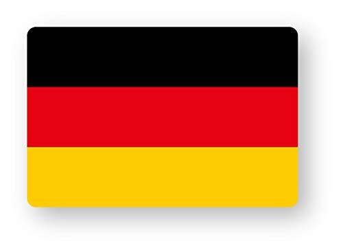 NEW 国旗ステッカー(ドイツ) SSサイズ 2枚組 再帰反射 耐水 屋外使用可能 高級車 ラグジュアリー ドイツ軍 フラッグ 欧州 ドイツSS(2)