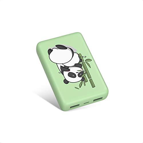 IEsafy Powerbank Panda 10000mAh Externer Akku Tragbares Ladegerät 2 USB Outputs 2.4A Schnelle Aufladung für iPhone, iPad, Samsung, Huawei und Mehr