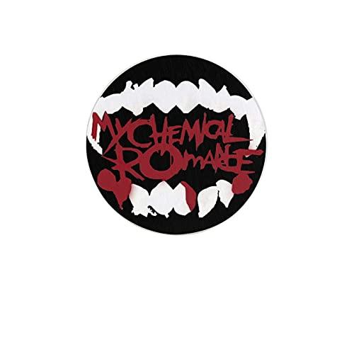 My Chemical Romance - Posavasos absorbente de dientes de cerámica natural con base de corcho, regalo de inauguración de la casa para decoraciones de cocina del hogar, juego de 2