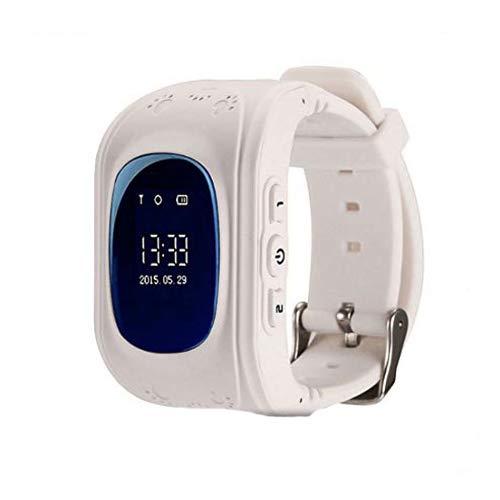 Winnes Reloj Localizador Niños GPS Localizador Niños Pulsera Pulsera Niños Seguridad GPS Reloj Niña GPS Smartwatch Niños Localizador GPS Seguimiento en Tiempo Real,Podómetro (Blanco)
