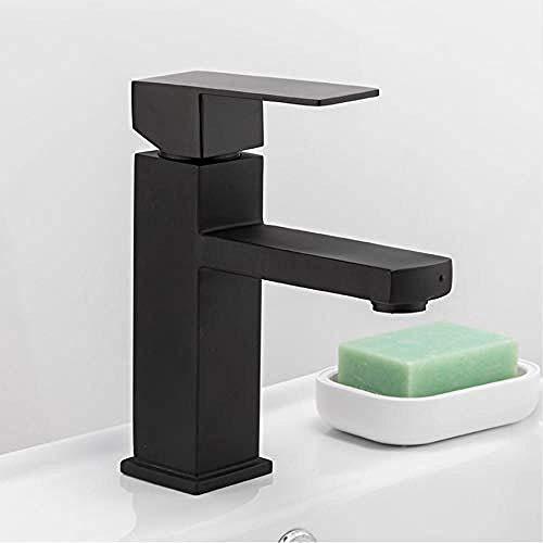 Werkblad keukenkraan geborsteld badkamer wastafel waterkraan douche waterkraan roestvrij staal vierkant wastafel waterkraan enkele handgreep