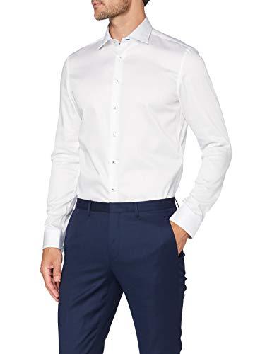 Jacques Britt Herren Como (98) Businesshemd, Weiß (Uni Weiss 1), Small (Herstellergröße: 37/S)