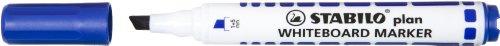 STABILO plan - Lot de 10 marqueurs effaçable à sec - Bleu (pointe biseautée)
