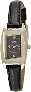 Omax Watch for Women, Analog, Leather Band, Black, OMKC6142PB42