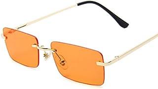 Rectangle Ladies Women Rimless Square Polarized Sun Glasses