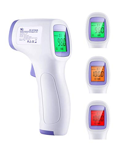 KYNG Infrared Thermometer IR Non Contact No Touch Thermometer Approved Three Color LCD No Touch Forehead, Ear and Body Temperature for Baby to Adults Also Measure Surface Temperature