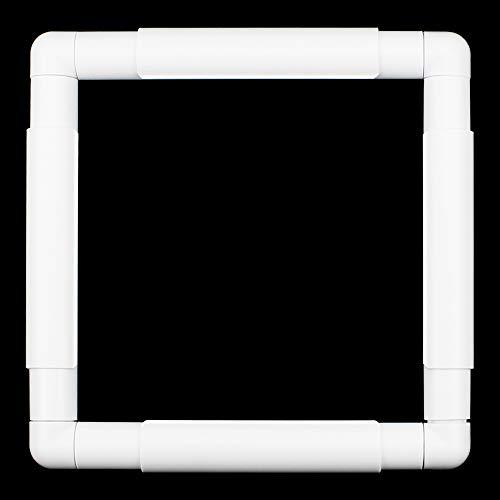 DXLing Kunststoff Quadratische Stickrahmen Clip-Rahmen für Stickerei Cross Stitch Frame Nähen Rahmen für Stickerei Quilten Kreuzstich Needlepoint Seide-Malerei (21×21cm)