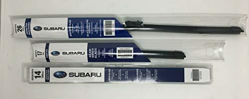 Subaru 2019 2020 2021 Subaru Forester Front & Rear Windshield Wiper Full Blade Set Genuine OEM 3 blades