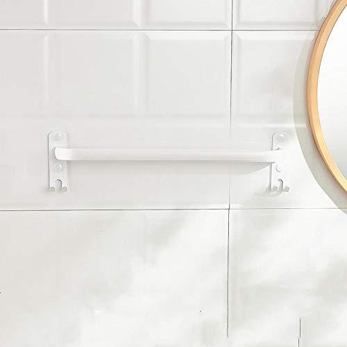 Perchero de baño blanco para colgar en la pared, espacio de un solo polo, estante de múltiples capas de aluminio, estante para toallas de baño-Los 60cm