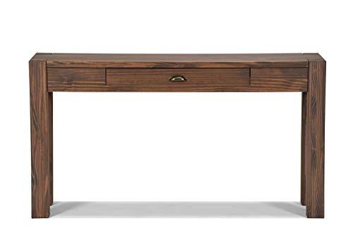 Naturholzmöbel Seidel Sideboard Massivholz Konsole Anrichte Schreibtisch Wandtisch,Rio Bonito, 160x38cm Pinie massiv Cognac braun