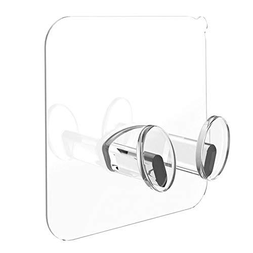 MOVKZACV 10 unids/set enchufe de alimentación autoadhesivo soporte de almacenamiento de pared, soporte adhesivo para cepillo de dientes montado en la pared, teléfono enchufe organizador gancho rack