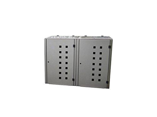 Mülltonnenbox Edelstahl, Modell Eleganza Quad11, 240 Liter als Zweierbox