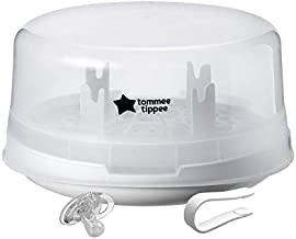 Tommee Tippee Microwave Travel Steam Baby Bottle Sterilizer - Sterilize 4 Bottles at Once in 4-8 minutes - BPA Free