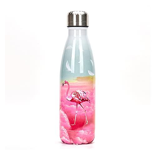 JSJJRFV Taza de Agua Custom Flamingo Botella de Agua Tumbler Gimnasio Deporte Termos Bebida Botella Acero Inoxidable Aislado Copa Frío Café Taza Coctelera (Capacity : with Holder, Color : I)