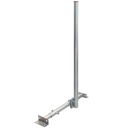 PremiumX Basic X120-48 SAT TV Teleskop-Dachsparrenhalter 120cm Mast 48mm Stahl feuerverzinkt Dach-Sparren-Halterung für Satelliten-Antenne Satellitenschüssel Kabeldurchführung