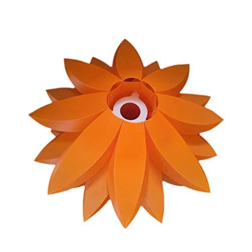 VOSAREA DIY Lotus Kronleuchter PP Anhänger Lampenschirm Decke Raumdekoration (Orange)