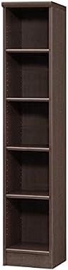 本棚 幅30 高さ150 5段 日本製 スリム 書棚 木製 収納 収納棚 コミック収納 文庫本棚 棚 ラック エースラック カラーラック ダークブラウン B075M641RW