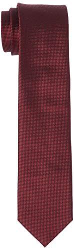 HUGO Herren Krawatte Tie Cm 6, Dark Red, Einheitsgröße