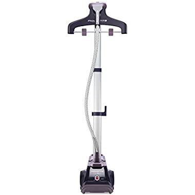 Rowenta IS6202 Partner of Fashion Full Size Garment Steamer with Retractable Pole and Foot Operated On-Off Switch, 1500W, Purple