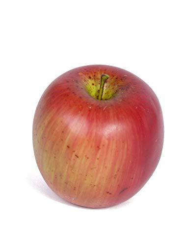 PARC Network - Künstlicher Apfel, rot-gelb, 8cm, Ø7cm - Apfel Deko - Apfel Künstlich - Apfel Plastik - Apfeldeko - Plastik Apfel - Kunstobst