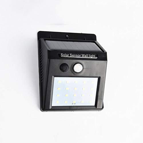 LED Solar Wandleuchte, 20 Stück LED Bewegungsmelder Außen Home Depot Solar Wandleuchte im Freien wasserdicht Dämmerung bis Morgendämmerung für Garden Pathway Yard, schwarz