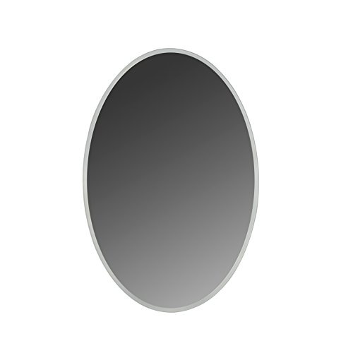 "Maykke Madison 24"" W x 36"" H Oval LED Light Mirror Wall Mounted Lighted Bathroom Vanity Horizontal or Vertical LED Lighting Border UL Certified, Silver, LMA1032401"