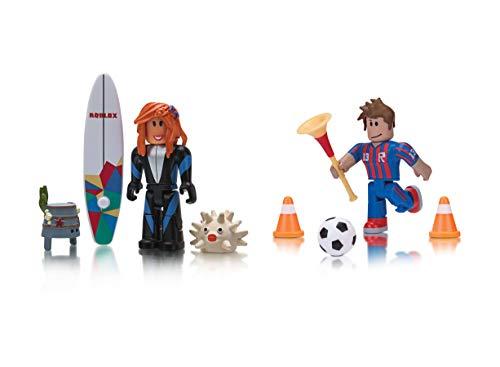 Roblox Celebrity Collection- Crezak: The Legend + Sharkbite Surfer Two Figure Bundle [Includes 2 Exclusive Virtual Items]