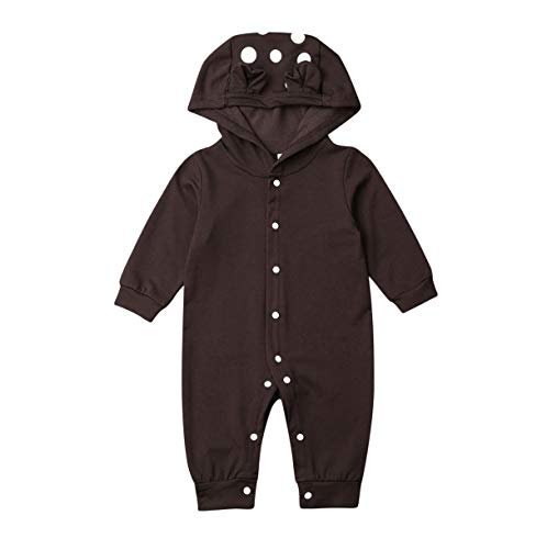 Qinngsha - Mono de manga larga con botones para niños, ropa de algodón