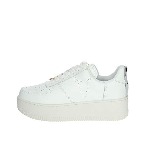 Windsor Smith Racerr, Sneaker Donna, Bianco (Leather White), 37 EU