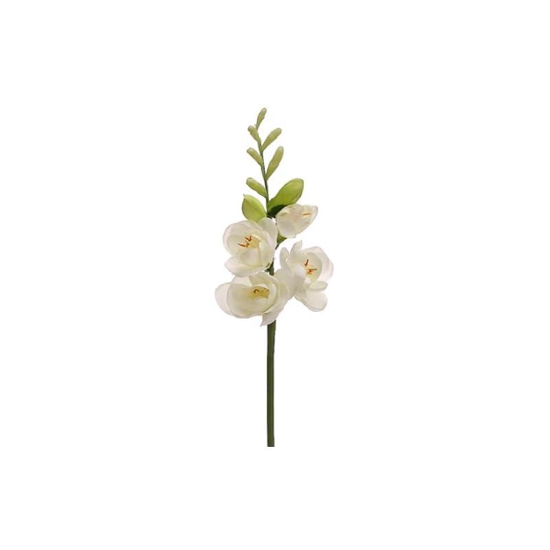 "silk flower arrangements 22"" silk freesia flower stem -cream (pack of 12)"