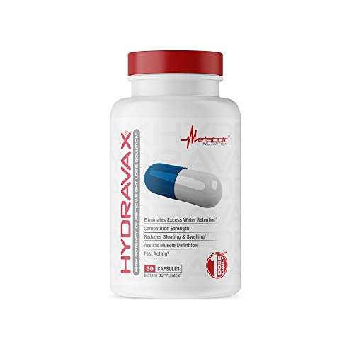 Metabolic Nutrition Hydravax, 30 Capsules, Eliminates Water Retention, Competition Strength, One Dose Daily