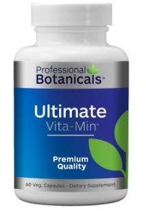 Professional Botanicals - Ultimate Vita-Min - Vitamins, Minerals, Enzymes, Micronutrients, and a Proprietary Blend of Herbs - 60 Vegetarian Capsules