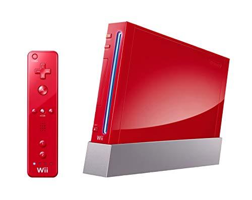 Nintendo Wii Console (Red) (Renewed)