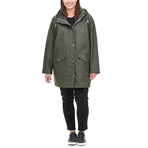Levi's Damen Plus Size Rubberized PU Fishtail Rain Parka Regenmantel, olivgrün, 3X