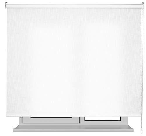 EB ESTORES BARATOS Estor Jaspeado Lino Premium/Permite el Paso de Mucha luz. Elija su Medida de Ancho x Alto. Y LO AJUSTAMOS Mediante UNA Llamada. Color: Blanco. Medidas: 210cm x 180cm
