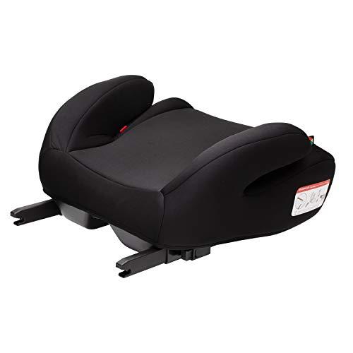 Clamaro \'Guardian Mini\' Autositzerhöhung mit Isofix, Autositz der Gruppe 3 (22-36 kg) ECE R44/04, Sitzerhöhung bequem gepolstert mit Armlehnen, passend für Autos mit oder ohne Isofix - Schwarz/Schwarz