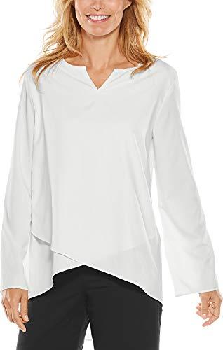 Coolibar UPF 50+ Women's Santa Barbara Tunic Top - Sun Protective (X-Large- White)