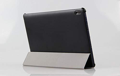 Funda de Cuero de PU para Lenovo Tab A10-70 A7600 A7600-h A7600-f A10-80hc 10.1 Tablet Case-Negro