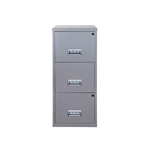 Pierre Henry A4 3 Drawer Maxi Filing Cabinet - Color: Silver