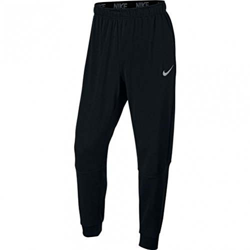 Nike Herren Dry Taper Fleece Trainingshose, Black/White, L