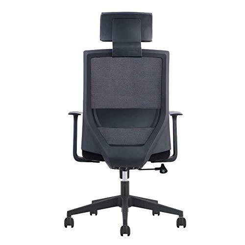 OSALADI vrijetijdsstoel stoel medewerkers bureaustoel Supervisor Manager huishoudcomputer stoel ontvangst stoel (kleur: zwart Maat: 113-126cm)