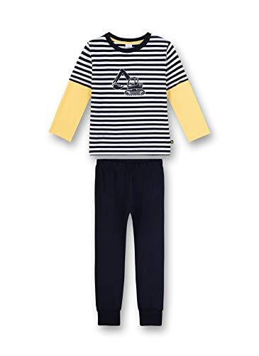 Sanetta Jungen Pyjama lang Zweiteiliger Schlafanzug, Blau (blau 50151), (Herstellergröße:104)