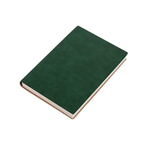 JIALI Cuaderno de notas de estudio simple grueso y exquisito cuaderno de oficina ordenado (color: verde, tamaño: 15 x 21,2 cm) (color: marrón, tamaño: 15 x 21,2 cm)