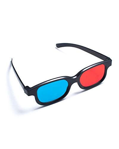 1 Pair Red Blue 3D Glasses For Dimensional Anaglyph Movie DVD Game BuyinCoins