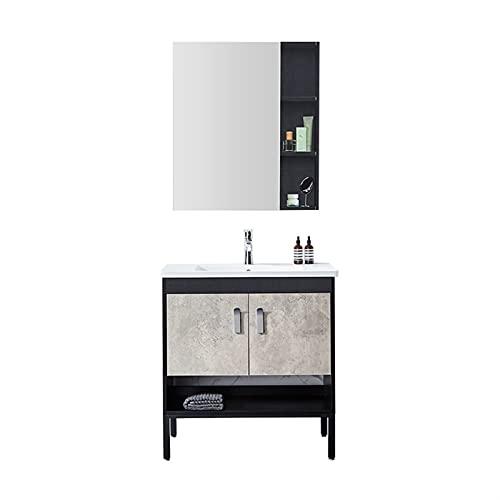 DJDLLZY Badrumsvinnar, Badrum Vanity Sink Combo med handfat, modernt badrumsskåp, golv-stående badrumskåpsbadrum badrumsbadskåp kombination