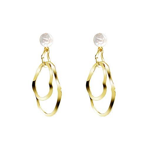 s925 silver needle women's earrings, golden fashion exaggerated long big earrings