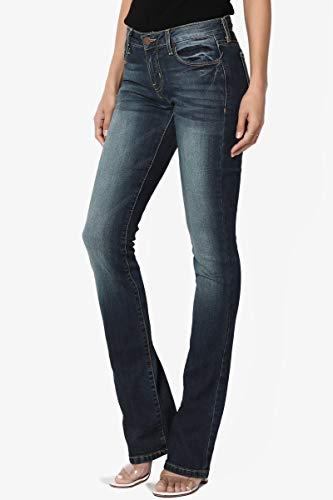TheMogan-Vintage-Versatile-Washed-Stretch-Denim-Mid-Rise-Slim-Boot-Cut-Jeans