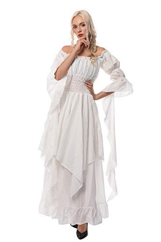 Nuoqi Gothic Kleid Mittelalter Kleidung Nightgown Ladies Medieval Renaissance Costume